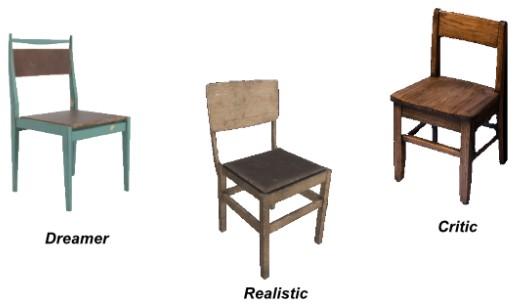 3 Disney chairs