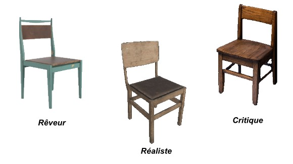 3 chaises de Disney