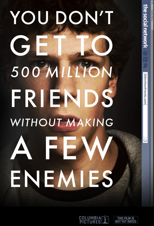 Affiche film the social network